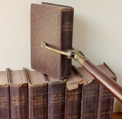 Antique Long Arm Library Book Grab Librarian's Mahogany Reacher Grabber 19th C