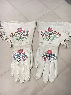 Antique Canadian Metis Indian Gauntlets Cowgirl