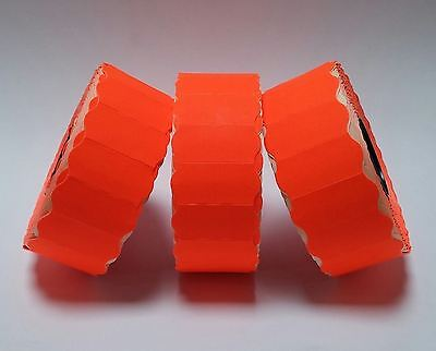 1 Roll Fluorescent Red 26mm x 12mm Price Gun Labels CT4 Lynx Motex Pricing