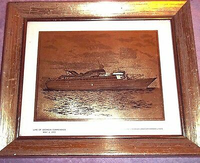 FRAMED Gold Photo M/S Skyward Norwegian Caribbean Lines Cruise Ship
