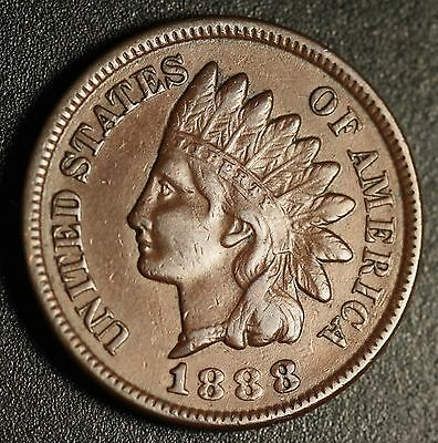 1888 INDIAN HEAD CENT - With LIBERTY & DIAMONDS - XF EF