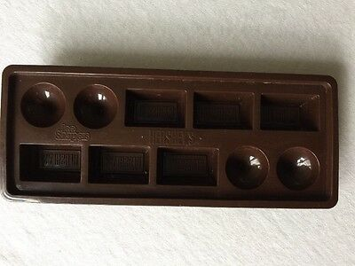 Hershey's Chocolate Candy Shaped Ice Cube Trays-Vintage Advertising Ice Shapers
