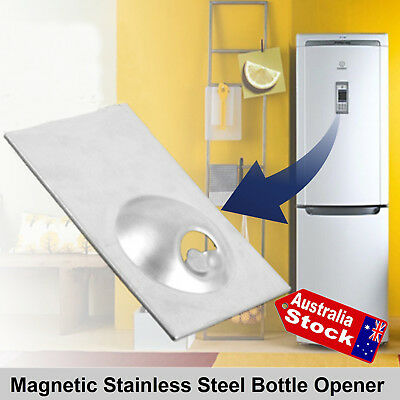 Stainless Steel Refrigerator Fridge Magnet Magnetic Bottle Beer Opener Home Bar