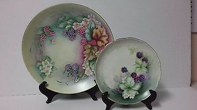 Plate Plates S Dinner Antique Set China 1927 Signed Charger