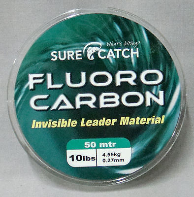Surecatch 10lb x 50m Fluorocarbon Invisible Leader Material - Made in Japan