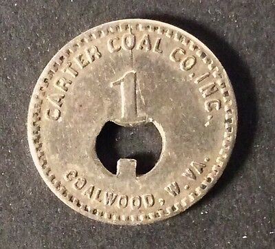 Coal Scrip Token - 1c Carter Coal Co. Coalwood,WV - McDowell County