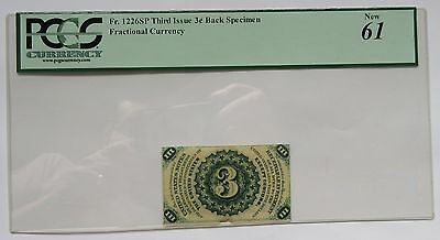 3 Cent SPECIMEN Third Issue Fractional Currency – FR-1226SP PCGS New 61