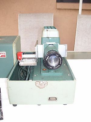 Vintage Argus 300 Automatic Slide Changer Projector With Case Working Bulb