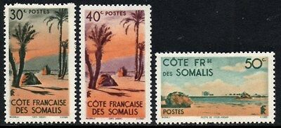 (Ref-10664) French Somali Coast 1947 Scenes/Pictorials  SG.394/396 Mint (Hinged)