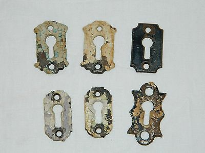 Antique Cast Iron Key Hole Escutcheon Lot