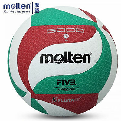 Molten Volleyball Ball PU Leather Official Size 5 Molten V5M 5000 Indoor Outdoor