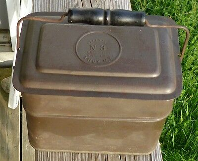 Antique 1887 Patent Dated No 3 Miners Luch Box