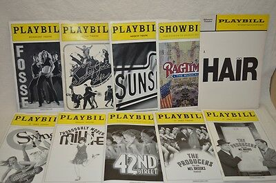Broadway Theater Playbill Program Ticket Stubs / Producers 42nd Street Lot of 10