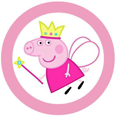 Peppa Pig Edible Kids Birthday Cake Icing Sheet Topper Decoration Round Images