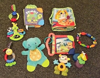 Bulk lot baby toys- teething toys and soft books.