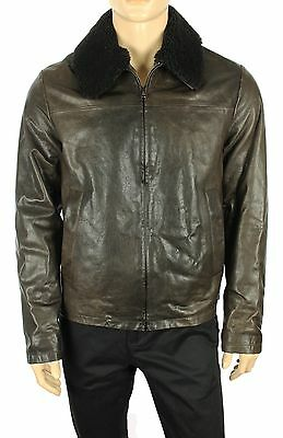 New The Mens Store Bloomingdales Made In Italy 100% Lambskin Pilot Jacket L $850