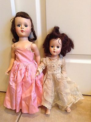 "Lot of 2 Vintage 1950's American Character Sweet Sue Dolls 14"" AND 18"""