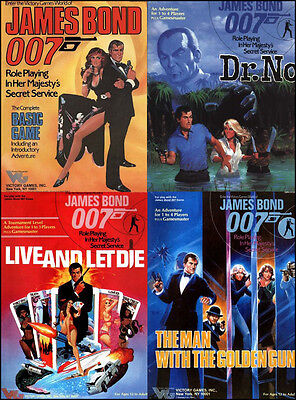 James Bond Victory Games Role Playing Game (RPG) Archive DVD