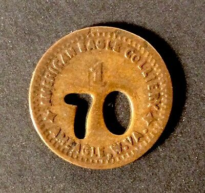 Coal Scrip Token - 1c American Eagle Colliery Co. Ameagle,WV - Raleigh County