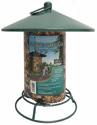 Pine Tree Farms 8007 Classic Seed Log Hanging Bird Feeder Made in the USA