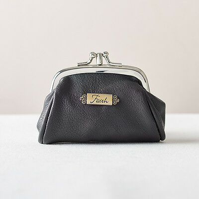 Black Coin Purse with Faith Badge. FREE DELIVERY