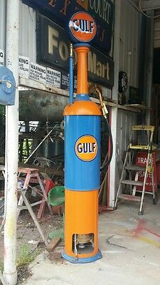 Vintage GULF OIL CO Wayne Model 556 Air-Operated Gas Pump 1919