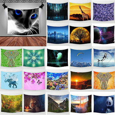 Nature & Animals Polyester Hanging Tapestry Picnic Mat Wall Sticker Home Decor