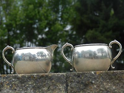 Vtg Antique Manchester Sterling Silver 897 Creamer Sugar Ornate Handles