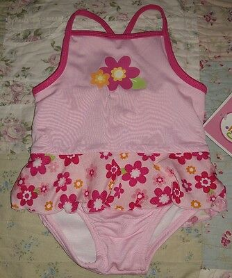 🌟New🌟 Circo Girls 12 Months Pink Flower One Piece Swim Suit