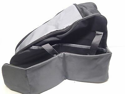 "Chainsaw Bag Up To 21"" Bar - Black & Grey  Includes Side Pocket"