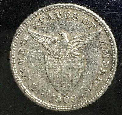 1903 US-Philippines Silver Coin 20 centavos  lot#19