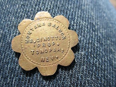 Tonopah, Nevada Montana Saloon trade token.