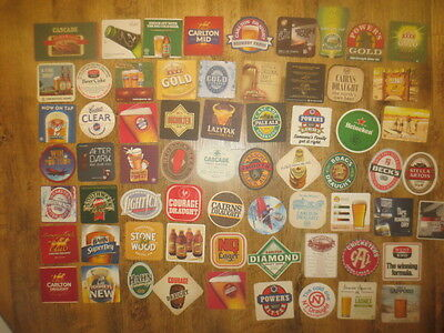 66 Different AUSTRALIAN  Issued  BEER COASTERS