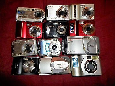 Lot of 12 Digital Cameras - for parts or not working
