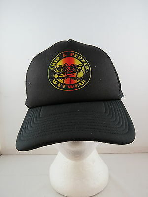 Chip and Pepper Hat (VTG) - Black Trucker with Tie Dye Logo - Adult Snapback
