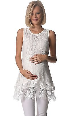 BNWT Vintage Lace Maternity Top - White - Sizes 8,10,12,14 & 16