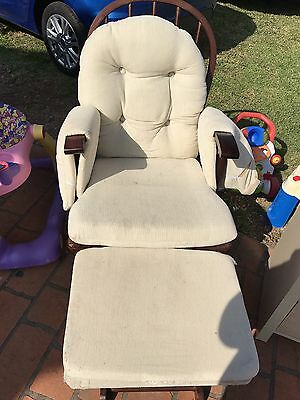 Baby Nursery Rocking Chair with Rocking Foot Stool