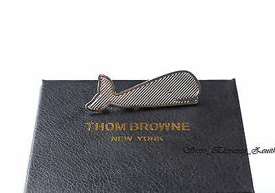 Thom Browne Authentic Iconic Whale Tie Bar in Silver 40% OFF on Sale