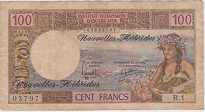 (NI-85) 1960 French NUMEA 100 frank bank note (D)