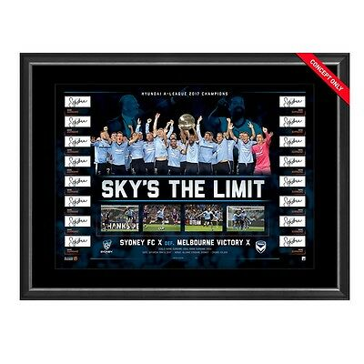 Sydney Fc 2017 A-League Champions Team Signed Framed Limited Edition Print