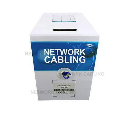 *VIC Metro Only* Cat6 305M UTP Ethernet LAN Network Solid Cable with FREE 20RJ45