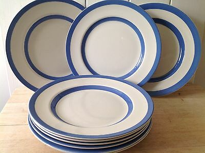 Vintage TG Green Cornishware Plates - Green Shield - Four Available..