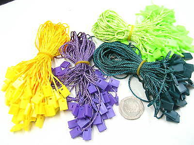 colorful Tag hang tag String Lock Fastener Labeling Tagging Supplies square end