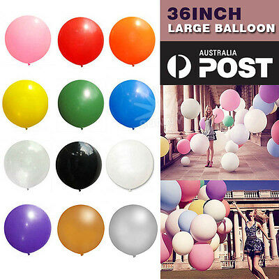 Large 36 Inch 90cm Balloon Latex Decoration Birthday Party Wedding 12 Colors