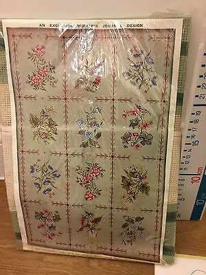 Vintage Floral TAPESTRY NEEDLEPOINT CANVAS ANTIQUE STYLE CHAIR SEAT COVER Kit