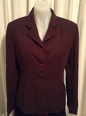 Events Suit Chocolate Brown Jacket & Skirt Size 12 Office Work Corporate Wear.
