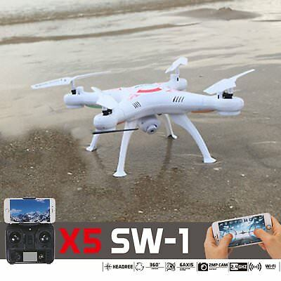 Quadcopter White Wifi FPV Camera Drone 2.4Ghz 6-Axis RTF 4CH RC X5SW-1 Camera