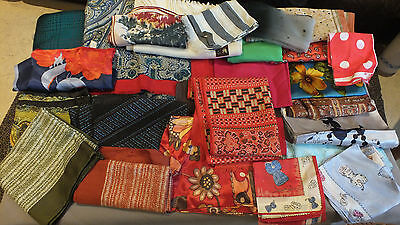 Vintage 37 Scarves Mixed ladies Joblot Good clean condition FREE P&P