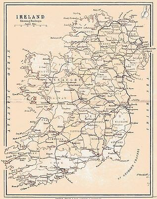 3 maps of County Galway & Ireland, dated 1840 & 1897 and a Connaught fact sheet.