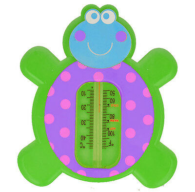 BATH THERMOMETER Akuku A0270 Baby Safety Floating Turtle Thermomether Toy GREEN